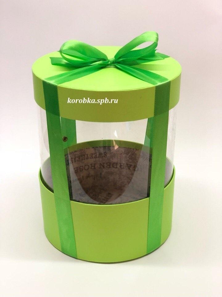 Коробка аквариум 18 см Цвет : Зеленый. Розница 350 рублей .