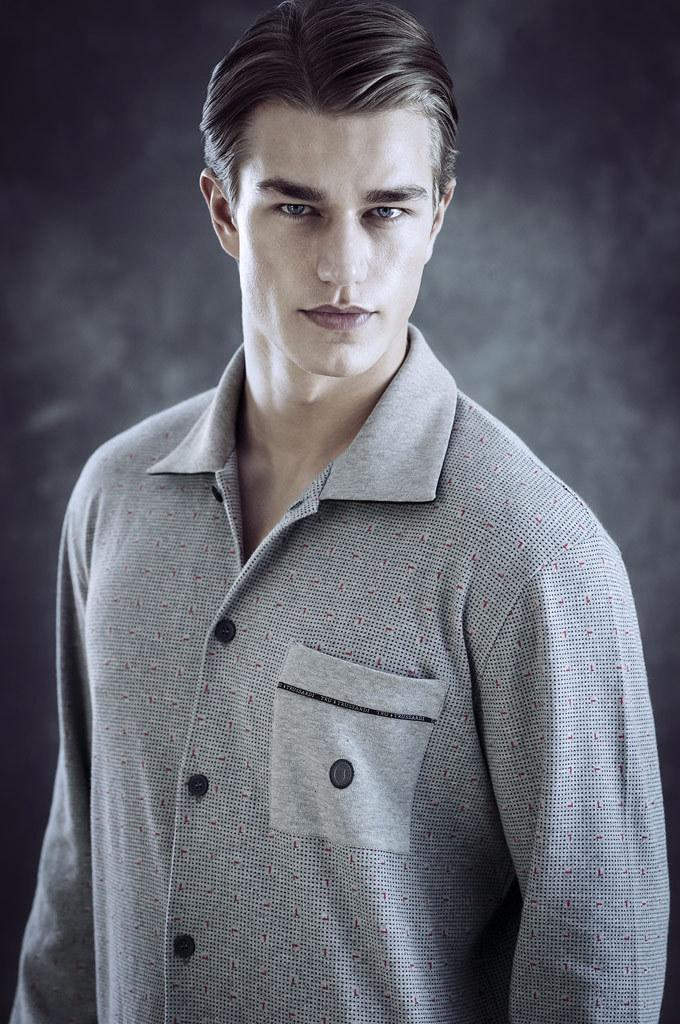 Теплая мужская пижама Trussardi (Домашние костюмы и пижамы)