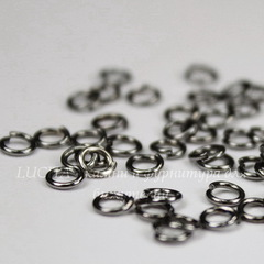 Комплект колечек одинарных 4х0,7 мм (цвет - черный никель), 10 гр (примерно 270 шт)