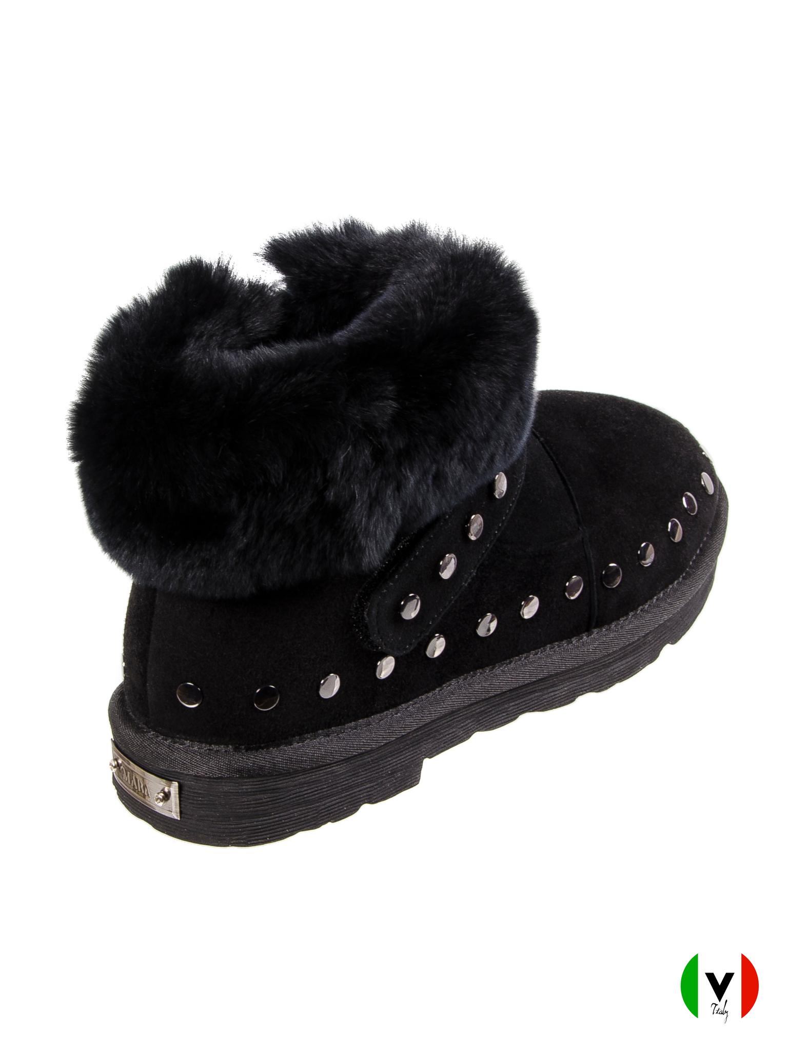 Ботинки Mara, артикул 1001, сезон зима, цвет чёрный, материал замша, цена 19 000 руб., veroitaly.ru