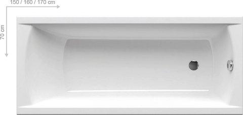 Акриловая ванна Ravak ROSA II 170x105 P белая
