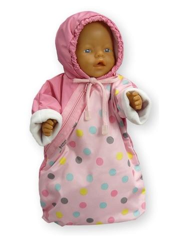 Прогулочный конверт - На кукле. Одежда для кукол, пупсов и мягких игрушек.