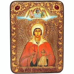 Инкрустированная Икона Святая великомученица Анастасия Узорешительница 29х21см на натуральном дереве, в подарочной коробке
