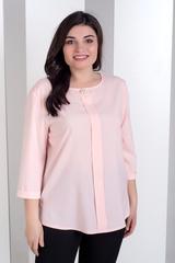 Лиза. Стильная блуза больших размеров. Пудра