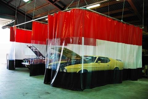 Комбинированные шторы для автомойки