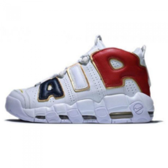Женские Nike Air More Uptempo White/Black/Red