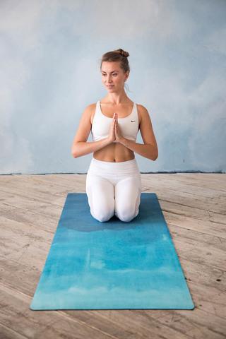 Коврик для йоги Воздух 183*61*3,5мм из микрофибры и каучука