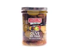 Смесь оливок с перцем Италия в масле, 180г