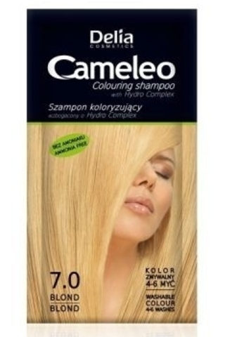 Delia Cosmetics Cameleo Оттеночный шампунь тон 7.0 блондин (саше 40мл)