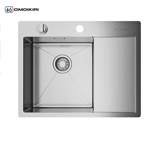 Кухонная мойка из нержавеющей стали OMOIKIRI Kirisame 65-IN-L (4993058)