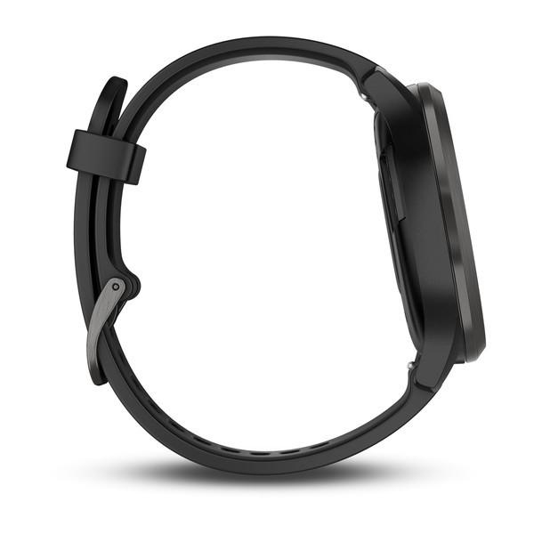Vivomove HR Sport черные с черным ремешком
