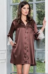 Халат рубашка женская шелковая на пуговицах  MIA-Amore  MARILIN Мэрилин 3107