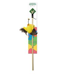 N1 Дразнилка для кошек Птичка с перьями 40 см