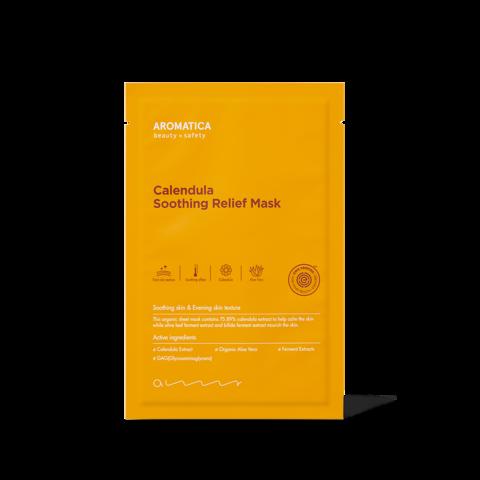 Успокаивающая тканевая маска на основе экстракта календулы, 19 г / Aromatica Calendula Soothing Relief Mask