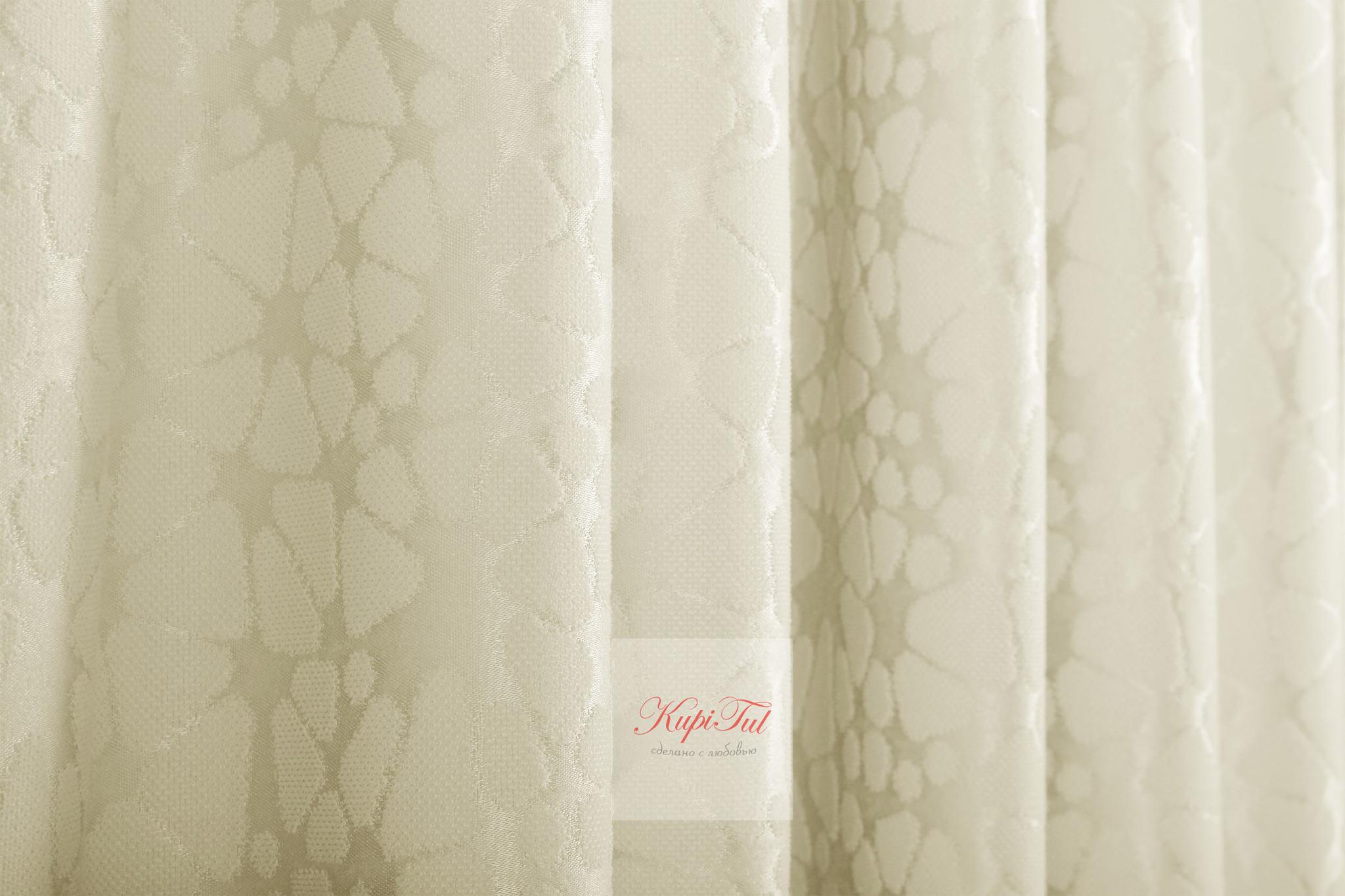 Комплект штор Лоран (Cream). Шторы из стриженного бархата.