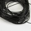 Шнур вощеный, 1 мм, цвет - черный, примерно 10 м