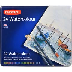 Набор из 24 акварельных карандашей Derwent Watercolour