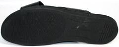 Модные мужские шлепанцы Giorgio Armani 101 01Black.