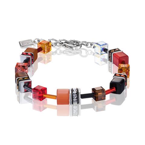 Браслет Coeur de Lion 2838/30-0302 цвет красный, коричневый, оранжевый, чёрный
