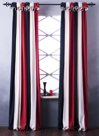 Комплект штор софт Стелла сине-красный