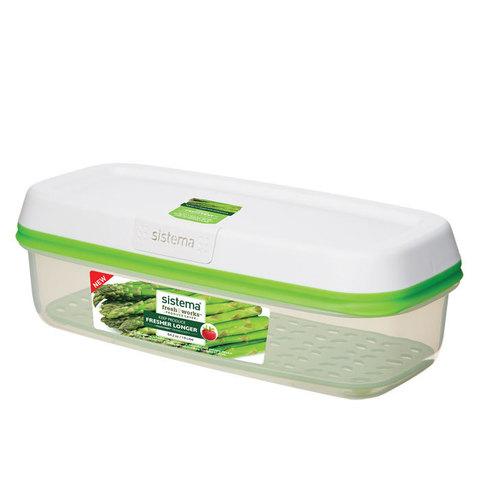 Контейнер прямоугольный FreshWorks 1,9 л, артикул 53115, производитель - Sistema