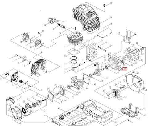 Картер левый для лодочного мотора T3,5 Sea-PRO