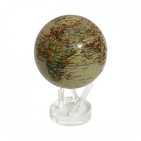 Глобус MOVA GLOBE Политическая карта мира, бежевый (16,5см)