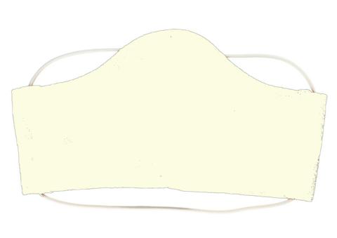 Маска тканевая (L, Белая)