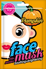 BLING POP Маска для лица с экстрактом тыквы Pumpkin  Soothing & Brightening (Корейская косметика)