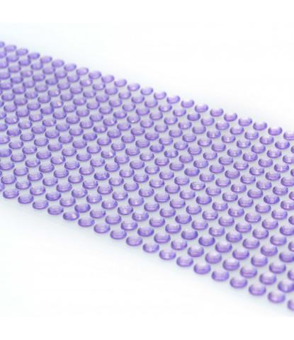 Стразы лиловые 5 мм длинные