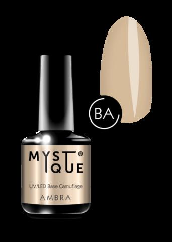 Mystique Камуфлирующее базовое покрытие «Ambra» 15 мл