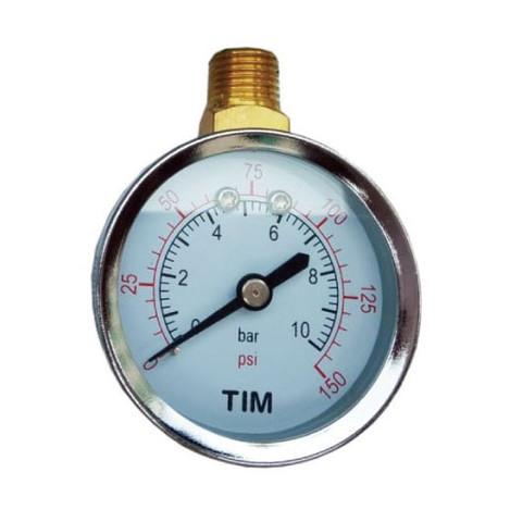Манометр давления Tim 10 бар с  верхним подключением