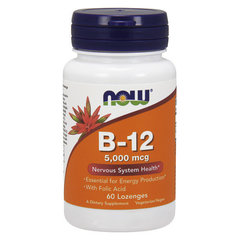 NOW B-12 5000mcg + FOLIC (60 TABS)