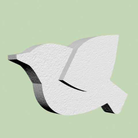 Птица из пенопласта