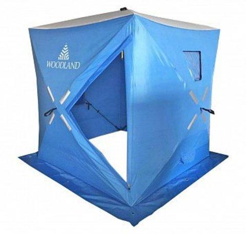Зимняя палатка куб Woodland Ice Fish 4 New (оранжевый)