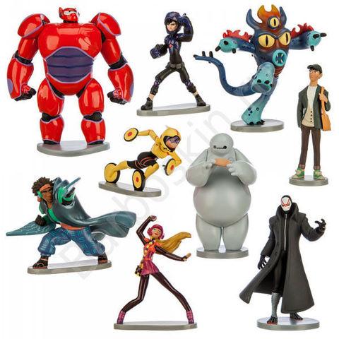 Игровой набор из 9 фигурок из мультфильма Город Героев - Big Hero, Disney