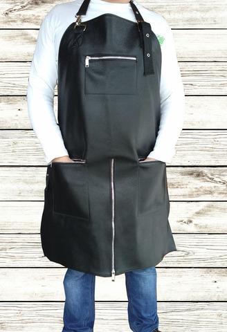 Мужской брутальный кожаный фартук Brewer Lab BL17115 размер L