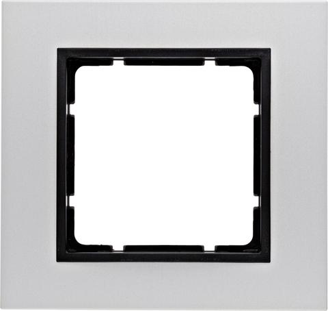 Рамка на 1 пост алюминий. Цвет Антрацит. Berker (Беркер). B.7. 10116904