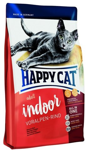 Сухой кормHappy Cat  Adult Indoor Voralpen-rind