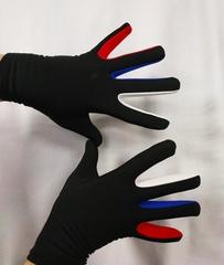 Перчатки из термоткани (белая, синяя, красная вставка)