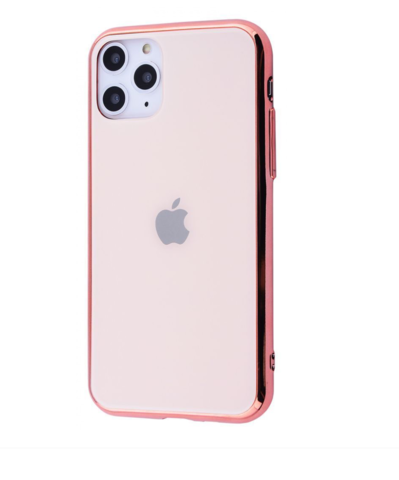Чехол iPhone 11 Pro Max Glass Case Logo /rose gold/