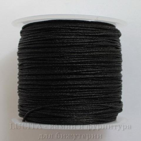 Нейлоновый шнур 1 мм (цвет - черный) 35 м