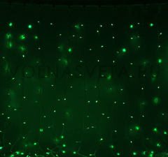 Гирлянда светодиодный занавес зеленая, 2x3 м, LED-760-220V