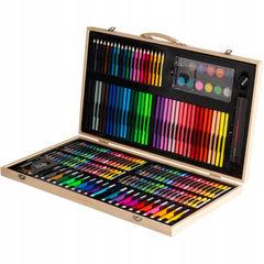 Набор для рисования в деревянном чемоданчике (180 предметов)