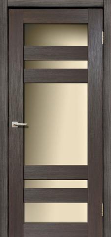 Дверь Дера Мастер 639, стекло белое, цвет венге, остекленная