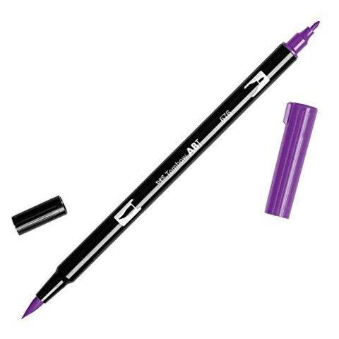 Маркер с двумя наконечниками Tombow Dual Brush Marker- Цвет 676 Royal Purple