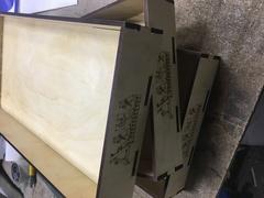 Ящики для выкладки выпечки с логотипом, 40х60см