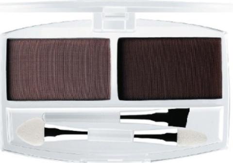 Ффлер тени ЕВ 01 тон 7А для век и бровей с аппликатором и кистью тон темно-коричневый(№ 1-4)