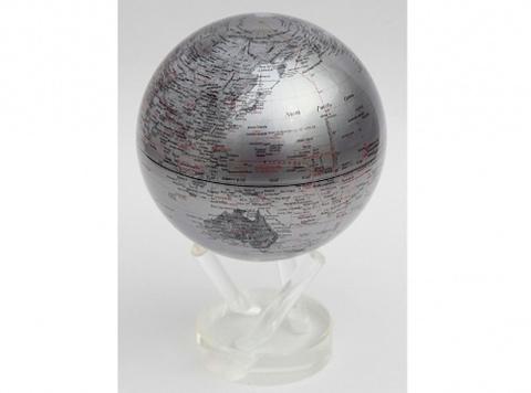 Глобус MOVA GLOBE Политическая карта мира, серебро (16,5см)