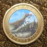 K8766, 2010, Канада, 50 центов  Динозавры Голограмма Буклет блистер + 6 карточек